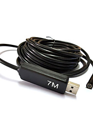 7M USB Endoscope camera Borescope Snake 7mm Lens 6 LED Waterproof Inspection for PC