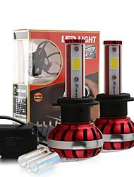 2017 nouvelles ampoules 8000K blanc puce cob kit phare conduit 3200lm h7 30w 6000k glace bleu lampes paire lumière