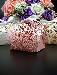 50pcs/lots flower wedding favor box laser cut candy box gift box wedding decoration event party supplies