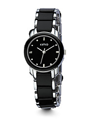 Women's Dress Watch Fashion Watch Quartz Imitation Diamond Alloy Band Black White Gold Brand