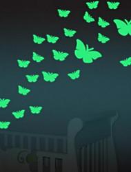 Cartoon Butterfly Luminous Wall StickersVinyl Material Home Decoration
