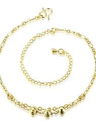 Bracelet de cheville/Bracelet Forme de Lettres Naturel Amitié Mode Vintage Bohême Style Punk Hip-Hop Turc Cuivre Plaqué argent Plaqué or