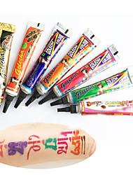 многоцветныйВременные краски- дляВзрослый-14-12Non Toxic Halloween Туземные Hawaiian Нижняя часть спины хна Свадьба Рождество Новый год-