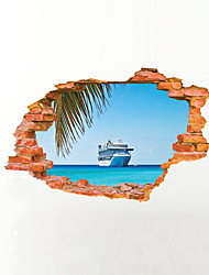 3D Wall Stickers Wall Decals Style Sea Ship PVC Wall Stickers