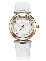 Women's Fashion Watch Quartz Calendar Water Resistant / Water Proof Genuine Leather Band Charm Casual White