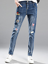 Sign new 2017 spring high waist stretch jeans female loose thin wild harem pants long pants