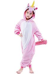 kigurumi Pyjamas Cheval Collant/Combinaison Fête / Célébration Pyjamas Animale Halloween Rose Motif Animal Costumes de Cosplay Kigurumi