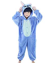 kigurumi Pyjamas Animé Collant/Combinaison Fête / Célébration Pyjamas Animale Halloween Bleu Rouge Rose Mosaïque polaire Costumes de