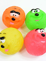 Cat Toy Dog Toy Pet Toys Ball Chew Toy Interactive Squeaking Toy Squeak / Squeaking Durable Elastic Cartoon Cat Dog Lips Halloween