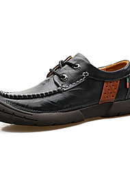 Recreational Leather Shoes Men's British Business Men's Shoes Round Head Han Edition with Youth Casual Shoes