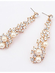 Drop Earrings AAA Cubic Zirconia Pearl Alloy Fashion Gold Jewelry Daily 1 pair