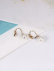 Drop Earrings Earrings Set Imitation Pearl Pearl Imitation Pearl Alloy Heart White Jewelry Daily Casual 1 pair
