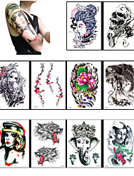 10 Style Temporary Tattoo Body Art Flash Tattoo Sticker Keep 3-5 days Waterproof