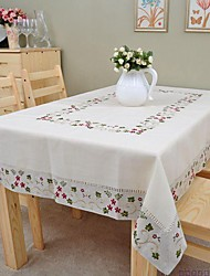 Embroidered Tablecloth Classical Linen Tablecloth Vintage Vase Table Cover 150x220cm For sale