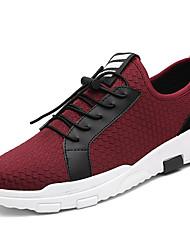 novos homens das sapatilhas, como mostrado na microfibra conforto imagem ao ar livre atlético ocasional rendas-up azul caminhada sapatos
