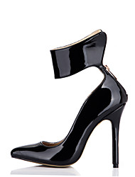 Women's Heels Spring Fall Comfort Patent Leather Wedding Party & Evening Dress Stiletto Heel Black