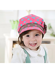 Kid's Cute Cotton Dot Yellow/Gray/Red/Fuchsia Hat From 1 to 4 Years Old