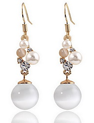 Stud Earrings Imitation Opal Pearl Opal Alloy Natural Fashion Jewelry White Jewelry Daily 1 pair
