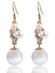 Feminino Brincos Curtos Opal imitação Natureza Moda Europeu Pérola Opala Liga Jóias Jóias Para Diário
