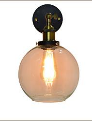 ac 220v-240v 4w e27 qs-12 lampe de mur de fer simple, tête simple lampe murale décorative de style noir de lampe de mur rétro européen
