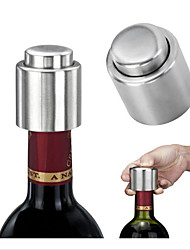 1Pcs Stainless Steel Wine Stopper Vacuum Pump Red Wine Bottle Stopers Standard Wine Storage Plug