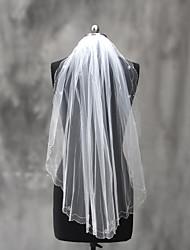 Wedding Veil One-tier Elbow Veils Beaded Edge Tulle