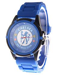 Fashion Watch Quartz PU Band Blue