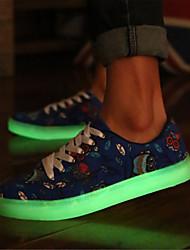 Da uomo-Sneakers-Casual Sportivo-Comoda-Piatto-Di corda-Blu Verde Bianco