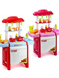 Aparelhos para cozinhar alimentos para crianças Modelo e Blocos de Construção Brinquedos Iluminação de LED Som Brinquedos ABSVermelho