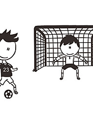 Wall Stickers Wall Decals Style Football Match PVC Wall Stickers