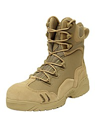 Men's Boots/Comfort/Ankle Strap/Leather/Outdoor/Casual/Desert Boot/Tactical Boots/Black/Khaki