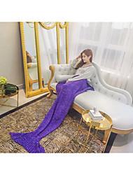 Sign mermaid tail air conditioning blanket wool blanket knitted casual sofa blanket nap blanket