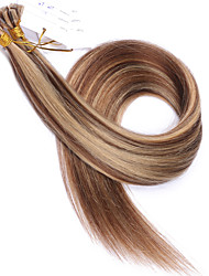 Beautiful Brazilian Human Hair Extensions 1g/strand U Tip Hair Extensions Highlight Color #6/#27 Nail Tip Hair Extension For Sale