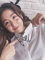 весной корейская версия небольшой свежей кошки воротник рубашки