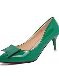 Mujer Tacones Confort PU Primavera Confort Tacón Stiletto Plata Morado Rojo Verde Rosa 7'5 - 9'5 cms