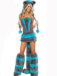 Costumes de Cosplay Animal Fête / Célébration Déguisement d'Halloween Bleu Couleur Pleine Carnaval Féminin Coton