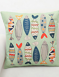 1 pcs Polyester Pillow Cover,Floral Graphic Prints Accent/Decorative