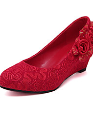 Wedding shoe heels sexy Chinese bride wedding shoe red bride shoes female red point