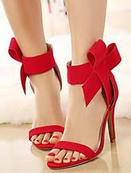 sandálias sapatos clube de verão bowknot stiletto vestido de lã calcanhar