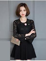 знак 2017 новых моделей весны кружева рубашки женский спикер рукав рубашки корейских женщин большой ярдов рубашка с длинным рукавом
