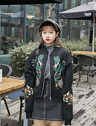 корея Ins ретро цветочный китайский стиль кашемировый кардиган куртки вышитые бейсбол Harajuku бф свободную одежду