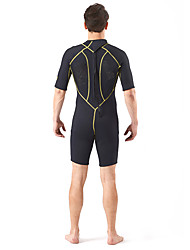 SLINX® Men's 3mm Wetsuits Dive Skins Waterproof Breathable Thermal / Warm Quick Dry Windproof Tactel Coolmax Memory Foam Diving SuitShort