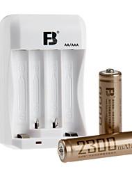 fb fb-15 aa de níquel de metal alcalino hidreto de bateria recarregável 1.2v 2300mAh 2 unidades