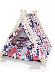 Chat Chien Tente Pliable Tente Multicolore Tissu