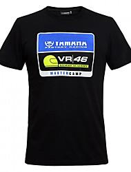 VR46 Motorradkleidung mit kurzen Ärmeln Baumwolle T-Shirt atmungsaktiv Sommer unisex