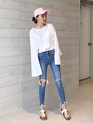 хань Guoguan сеть покупке шик рога Разъемная муфта случайные футболки женщин