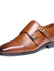 Westland's Men's Oxfords/Classical/Monk-Strap Shoe/Cow Leather/Casual/Black/Brown