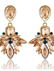 The European and American fashion drill zircon crystal earrings with small sweet wind drop earrings earrings 0389 #