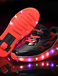 Athletic Shoes Spring Summer Fall Light Up Shoes Outdoor Sport Casual Low Heel LED Roller Shoes Blue Pink Black/Yellow Skate Shoes