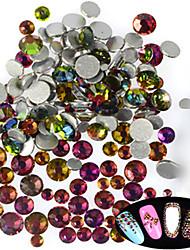 500-600pcs/bag SS3-SS16 Mixed Size Nail Colorful Glitter Rhinestone New Nail Art Sparkling Shiny Rhinestone Nail Art Bling Bling Decoration Rhinestone